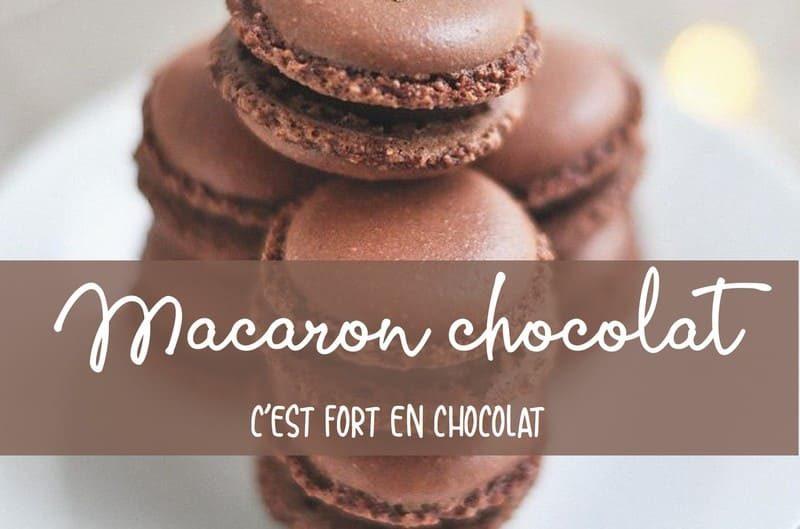 Recette des macarons chocolat